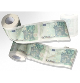 Toaletný papier - 100 eurovka