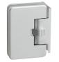 Automatický pružinový pant na skleněné dveře CT - CER402S - CP - Chrom perla
