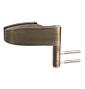 Horizontální pant na skleněné dveře CT - CER103C - OGS - Bronz česaný mat