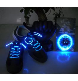 LED svítící tkaničky do bot modré