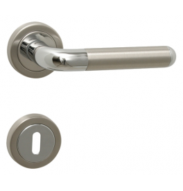 Handle TUPAI DACAPO - R 791 - OC / BN - Polished chrome / brushed stainless steel