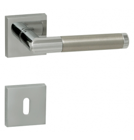 Handle TUPAI PRADO - HR 792Q - OC / BN - Polished chrome / brushed stainless steel