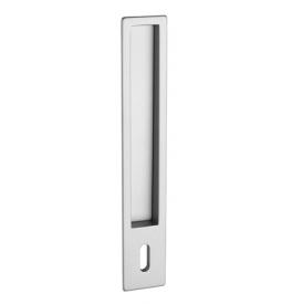 Hranatá mušla na posuvné dvere PR - 1099Z - BB - otvor na kľúč