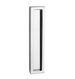 Mušla na sklenené posuvné dvere PAMAR 1158Z - OC - Chróm lesklý