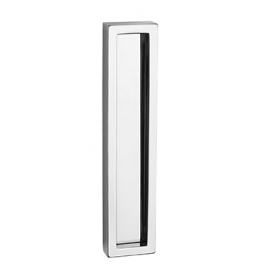 Shell for glass sliding door PAMAR 1158Z - OC - Polished chrome
