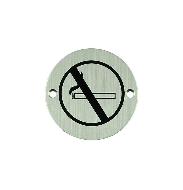 Nerezový piktogram okrúhly - zákaz fajčiťNEREZOVÝ PIKTOGRAM ZÁKAZ FAJČIT KRUH