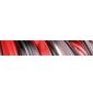 Naklejki żywiczne do klamek TUPAI VARIO - Red and Black