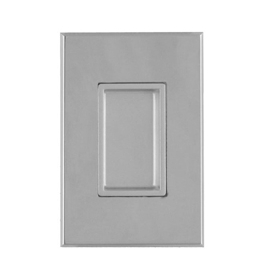 Shell for sliding door TUPAI 2649 - OC - Polished chrome