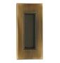 Kagylókilincs tolóajtóhoz szögletes TUPAI 2650 - OGS - Súrolt bronz matt