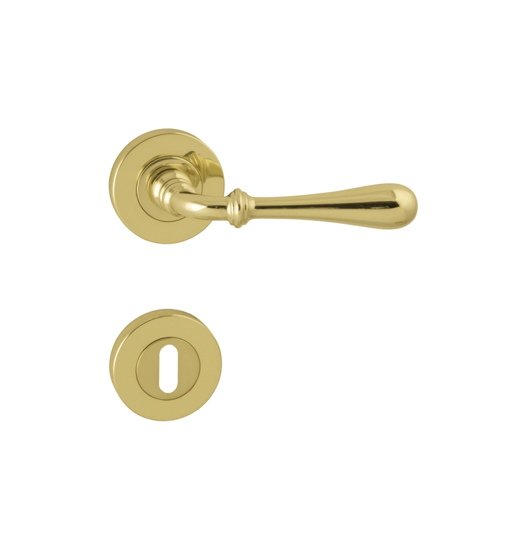 Handle CARINA 2 - R - OLV - Polished brass