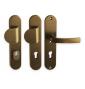 Klamka bezpieczeństwa LINIA BETA - F4 - Anodowane na brązowo