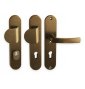Security handle LINIA BETA - F4 - Anodized bronze