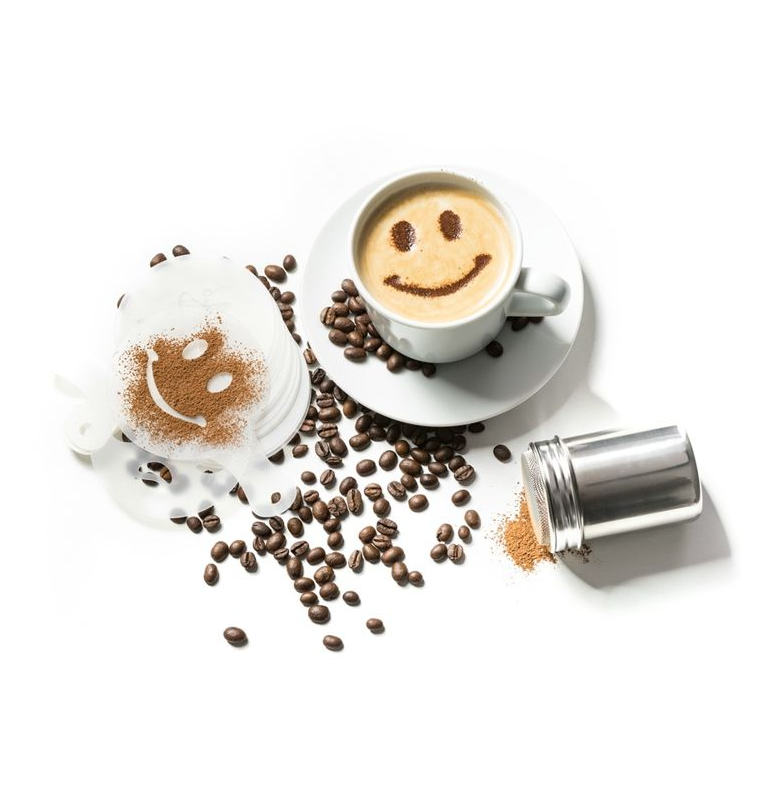 Šablóny na zdobenie kávy (16ks)