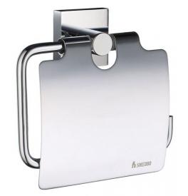 Posiadacz papier toaletowy z pokrywą SMEDBO HOUSE - Chrom błyszczący