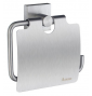 Toilet roll holder with lid SMEDBO HOUSE - Brushed chrome