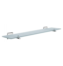 Glass shelf with brackets SMEDBO HOUSE - Polished chrome
