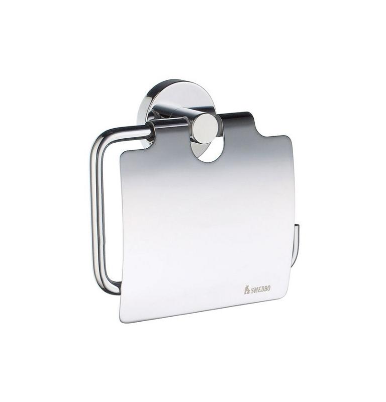 Toilettenpapierhalter mit Deckel SMEDBO HOME - Chrom glänzend