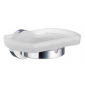 Holder with glass soap dish SMEDBO HOME - Polished chrome