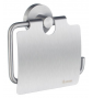 Toilet roll holder with lid SMEDBO HOME - Brushed chrome