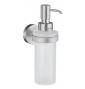 Szklany dozownik mydła SMEDBO HOME - Chrom szczotkowany