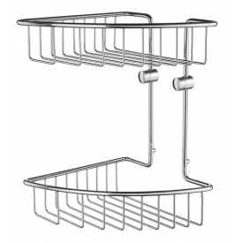 Corner soap basket double SMEDBO HOME - Polished chrome