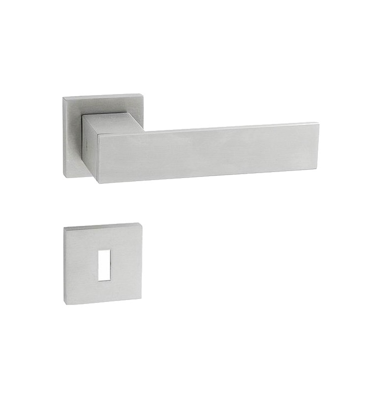 JNF SQUARE - HR - BN - Brushed stainless steel