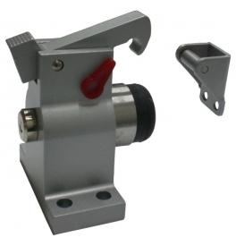 Industrial door stoper with internal spring and hook