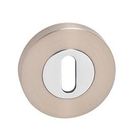Rosette MP - R - Nickel pearl / Polished chrome