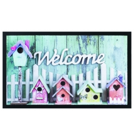 Door mat BIRDHOUSES