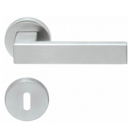 Handle SP - QUADRA - R PB1005 (PullBloc) - BN - Brushed stainless steel
