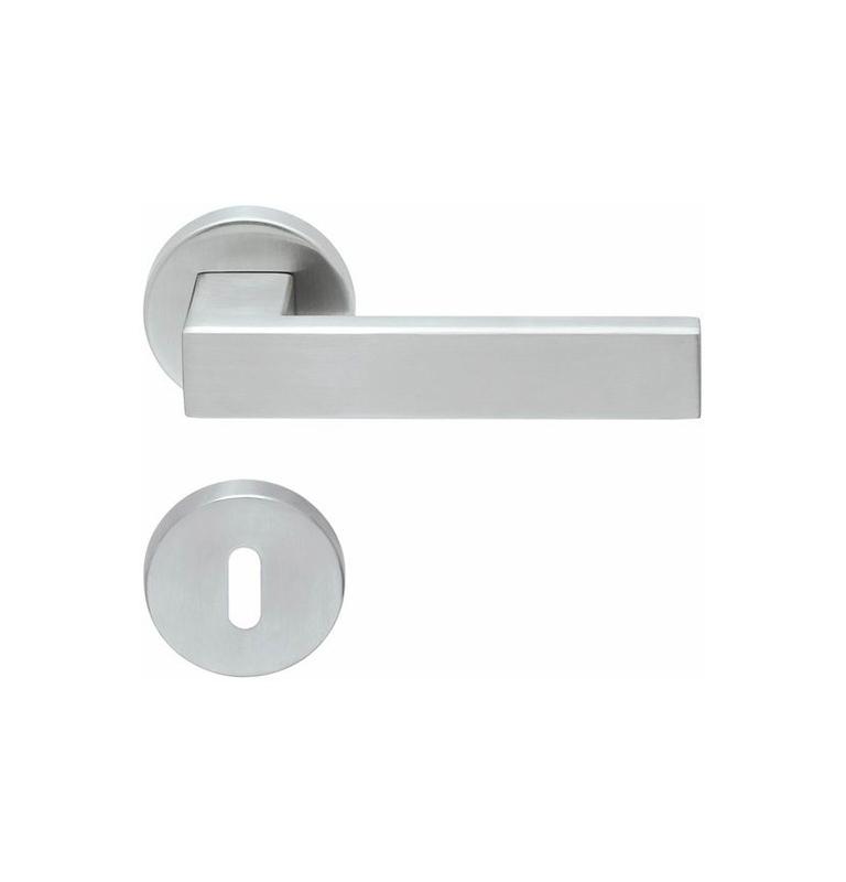 Handle SP - QUADRA - R PB1005 (PullBloc) - BN - Brushed stainless steel