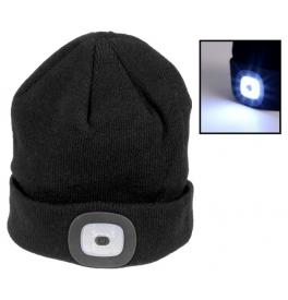 Zimná čapica s LED baterkou