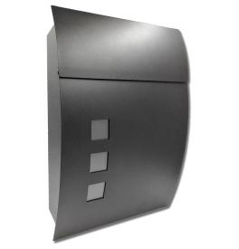Poštová schránka X-FEST DUSTIN - Čierna