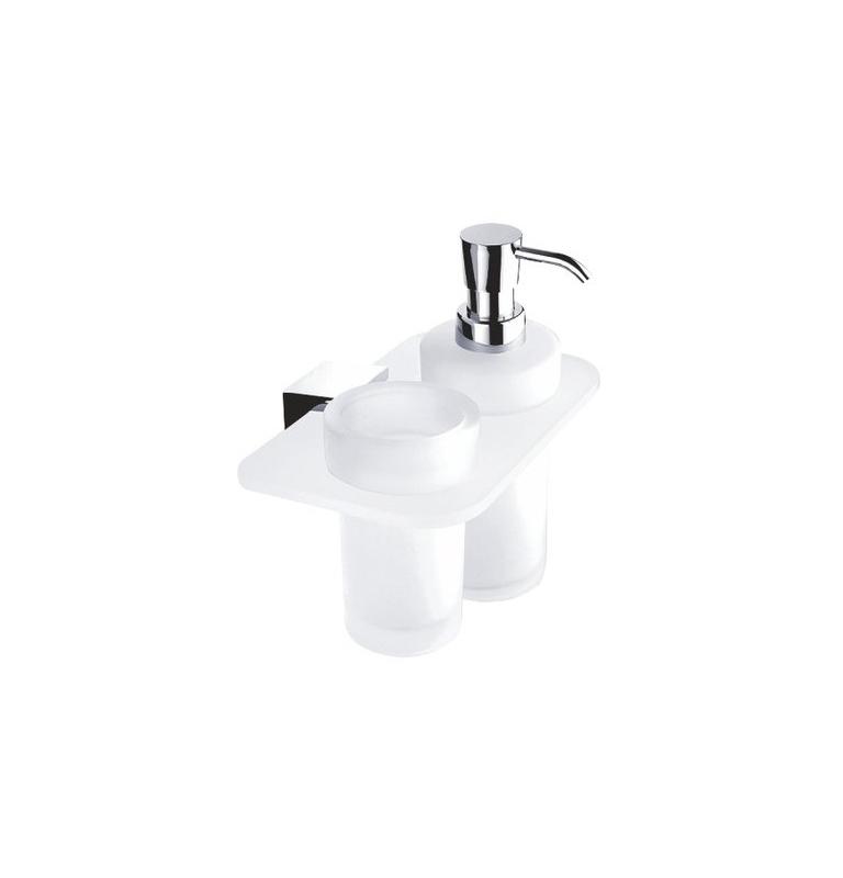 Dávkovač tekutého mydla s pohárom na zubné kefky IXI NIMCO KIBO Ki X3-5831W-26