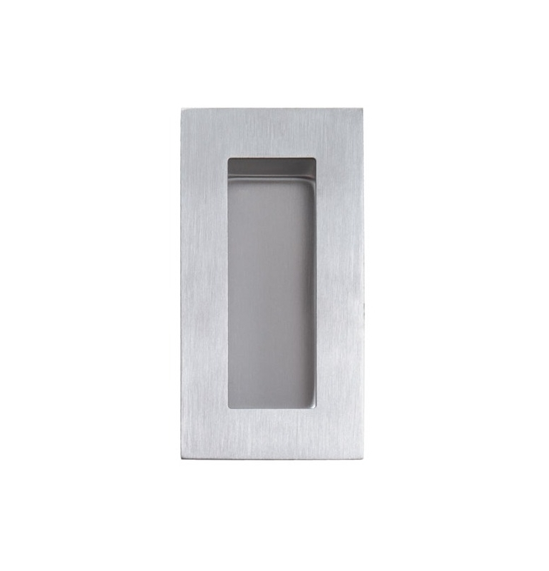 Shell for sliding door TUPAI 7506 - BN - Brushed stainless steel