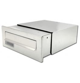 Fence-mounted mailbox X-FEST JAKUB 2 inox