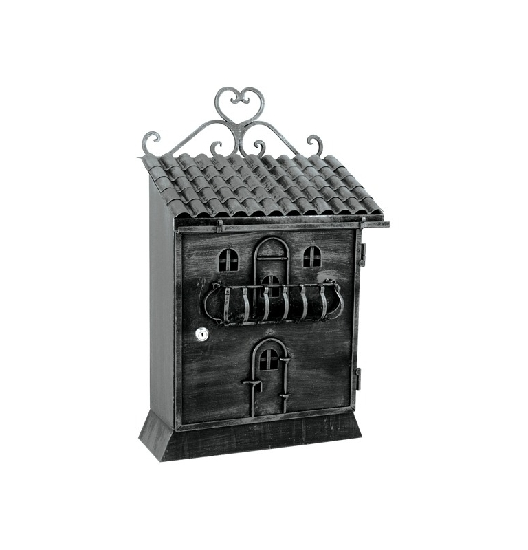 Poštová schránka FB614T - Čierna / platina striebro