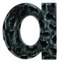 Číslice 120 mm nerez kované železo