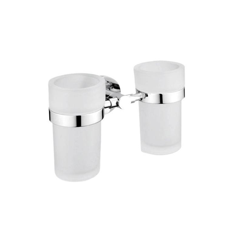 Podwójny uchwyt i dwie kubki do mycia zębów NIMCO UNIX UN 13058DW-26