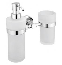 Dávkovač tekutého mydla s pohárom na zubné kefky NIMCO UNIX UN 1305831W-26