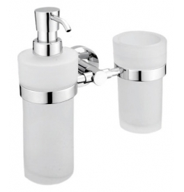 Soap Dispenser with cup for toothbrushs NIMCO UNIX UN 1305831W-26