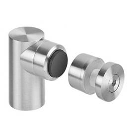 Magnetic door stopper for glass JNF