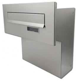 Poštová schránka na zamurovanie do plota X-FEST JAKUB 4 nerez