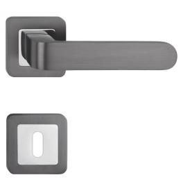 Klamka METAL-BUD RIO - HR - OC / G - Chrom błyszczący / grafit