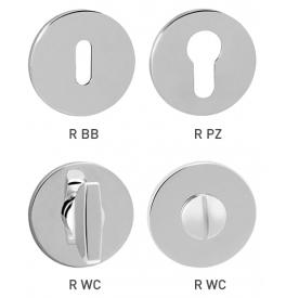 Rosette TUPAI R - 5S - OC - Polished chrome