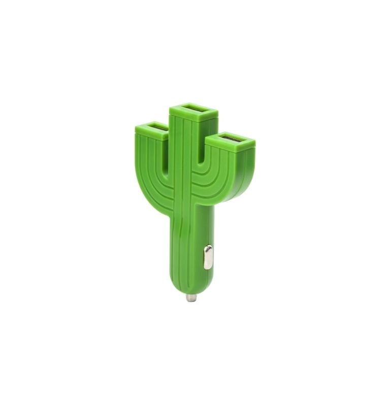 USB nabíjačka do auta - kaktus