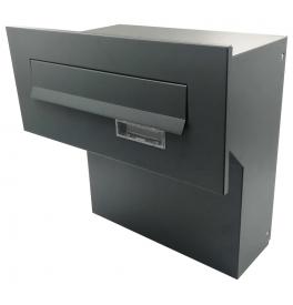 Poštová schránka na zamurovanie do plota X-FEST JAKUB 4 antracit