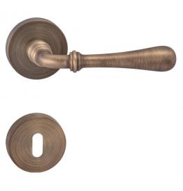 Kľučka CARINA 2 - R - OGS - Bronz česaný mat