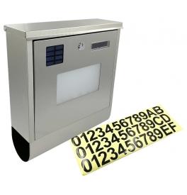 Mailbox MELVIN SOLAR inox