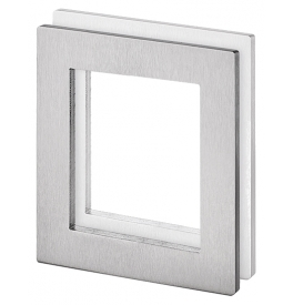 Shell for glass sliding door JNF IN.16.551.A - Brushed stainless steel